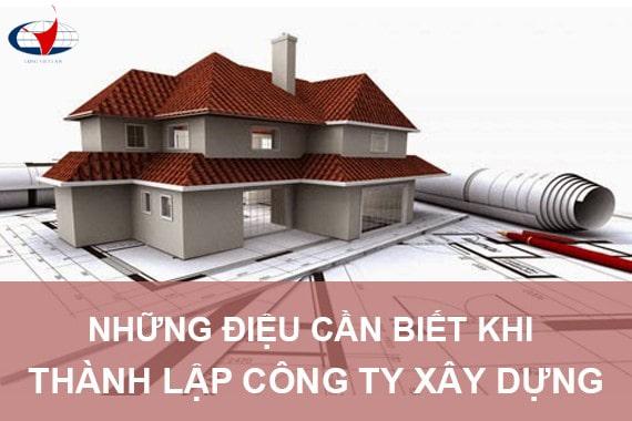 Thành lập công ty/doanh nghiệp xây dựng