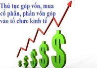 Thủ tục nhà đầu tư nước ngoài góp vốn, mua cổ phần, phần vốn góp vào tổ chức kinh tế