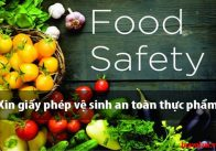 Hướng dẫn xin giấy chứng nhận vệ sinh an toàn thực phẩm