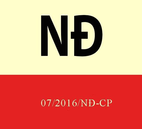 Nghị định 07/2016/NĐ-CP quy định chi tiết Luật Thương mại