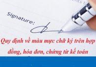 Ký ban hành văn bản hành chính phải bằng mực màu xanh