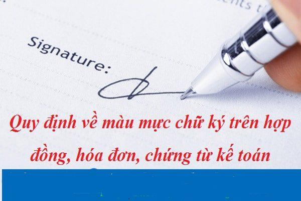 ký ban hành văn bản hành chính bẳng mực xanh