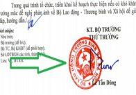 Cách ký tên, đóng dấu vào văn bản theo quy định